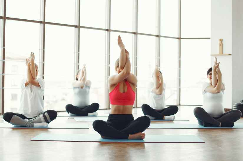 Ladies Yoga Class - Gomakhasana Arms